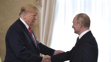 US President Donald Trump and Russian President Vladimir Putin