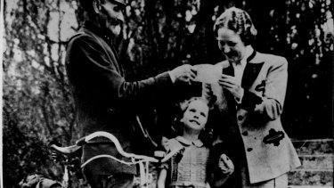 Emmy Goering and daughter Edda greet their daily letter from Nuremberg while Hermann Goering sits day after day in the dock at Nuremberg, on trial for his life, 1946.