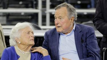 Barbara Bush with her husband former US president George HW Bush in 2015.