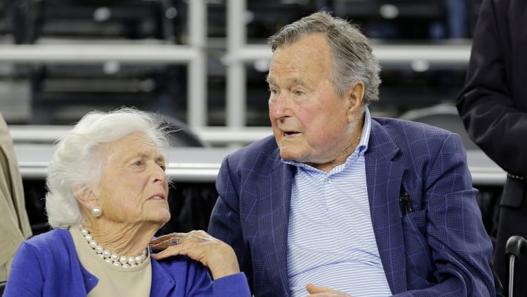 Barbara Bush with her husband former US president George HW Bush in 2015.