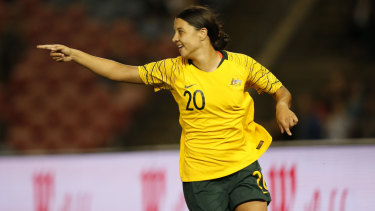 Household name: Matildas star Sam Kerr.