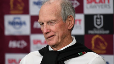 Wayne Bennett couldn't keep the grin off his face after the Rabbitohs'  win over the Broncos
