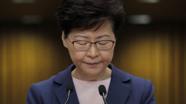 """""""Don't force Hong Kong into an abyss"""" Hong Kong Chief Executive Carrie Lam urged protesters in a press conference this week."""