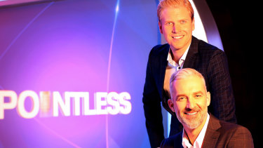 Pointless hosts Mark Humphries, top, and Andrew Rochford.