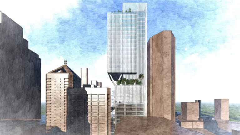 The QIC Triplets and 62 Mary Street development proposed for Brisbane CBD.