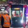 'A fantastic milestone' as first tram in 60 years rolls along George Street