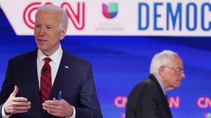 Joe Biden vows to select female running mate as Democratic presidential nominee