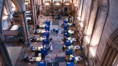 Salisbury Cathedral turned into mass vaccination centre, complete with beautiful music