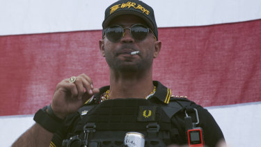 Proud Boys leader Enrique Tarrio was arrested when he arrived in Washington DC.