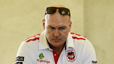 State of despair: Dragons coach Paul McGregor.