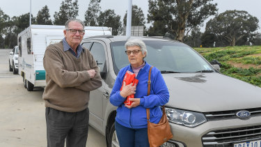 Ken and Faye Thorn rushed back to their home in Shepparton when the heard the NSW border was closing.