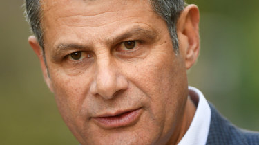 Former Victorian premier Steve Bracks speaks to media in Melbourne.