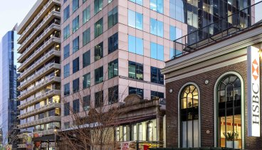 The 14-level office building at 2 Elizabeth Plaza, North Sydney is for sale.