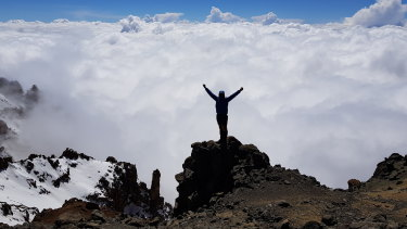 Just below Mt Kilimanjaro summit: Steve Plain on his epic climbing challenge.