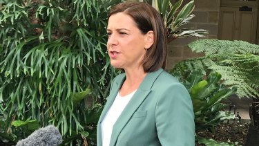 Opposition Leader Deb Frecklington announces she will step down as leader of the LNP in Queensland on Monday.