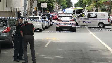 Mary Street remains closed and police have asked drivers and pedestrians to avoid the area.