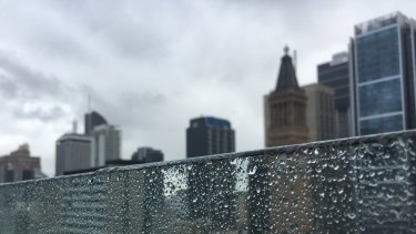 Brisbane temperatures dropped from 30s last week to late-20s this week and there is a higher chance of wet weather.