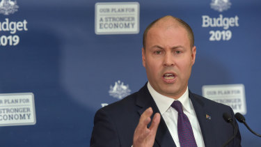 The Treasurer, Josh Frydenberg, speaks about his first budget