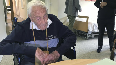 David Goodall, 104, in a room in Liestal near Basel, Switzerland, where he ended his life.