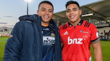 Brothers Allan and Michael Alaalatoa are rivals at club and now international level.