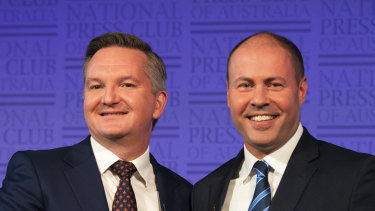Treasurer Josh Frydenberg and shadow treasurer Chris Bowen had a debate at the National Press Club on Monday.