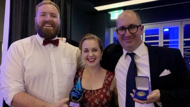 Hamish Hastie, Emma Young and Nathan Hondros.