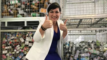 Environment Minister Leeanne Enoch gave Queenslanders the thumbs up in November last year, when the state surpassed 1 billion recycled containers. Eight months later, the scheme has collected 2 billion containers.