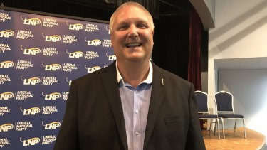 Former Newman government MP and federal LNP candidate for Longman Trevor Ruthenberg at the preselection meeting on Tuesday night.