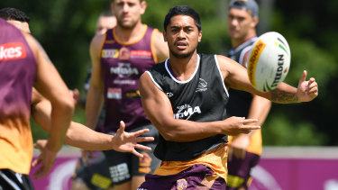 Work in progress: Broncos playmaker Anthony Milford needs to work on breaking down opposition defences.