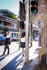 A Sydney street crossing.