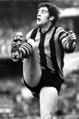 Kicking goals: Nine has assured Naked City that we're a winner, just like Peter Hudson in the 1971 Grand Final.