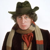 Tom Baker as the fourth Doctor.
