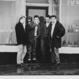 The Smiths as they were in the late 1980s when the characters in Andrew O'Hagan's novel trek to Manchester to see them.