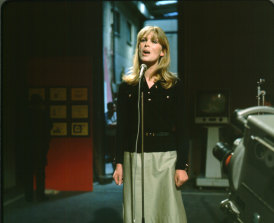 Nico, seen here performing on TV in 1968, was a sensation on New York's mid-'60s art-rock fringe.