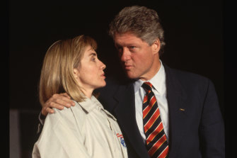 Hillary with Bill in 1992.