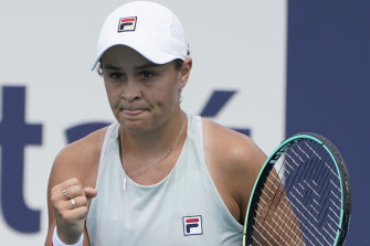 Ash Barty has booked her spot in the Miami Open final.