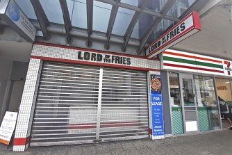 The Lord of the Fries outlet on William Street in Perth has been vacant since May.