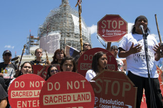 The development of the land has long being fought against by the San Carlos Apache tribe.