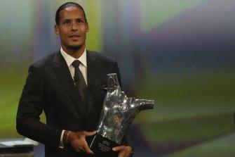 Liverpool's Virgil van Dijk, UEFA's men's player of the year.