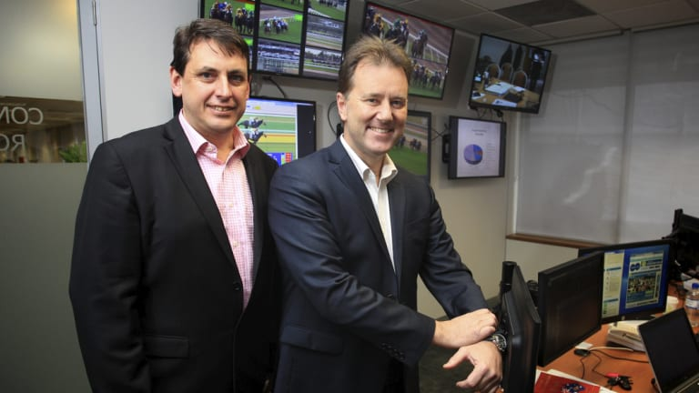 Chief steward at Racing Victoria Terry Bailey (left).