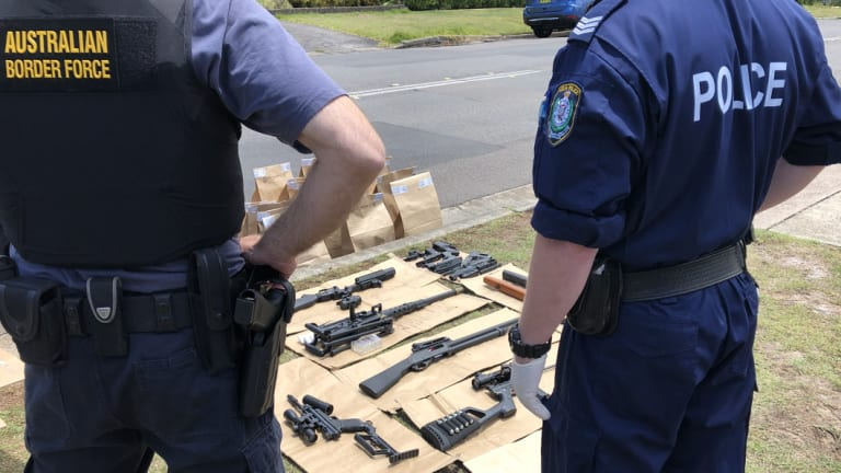 The investigation began when border intelligence officers identified a number of online purchases of firearms-related items.