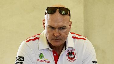 State of despair: Dragons coach Paul McGregor.