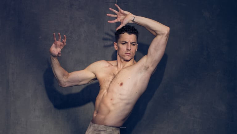 Kevin Jackson as Spartacus for a new production by The Australian Ballet.