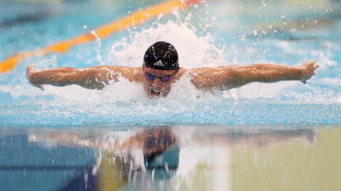 Kyle Chalmers claimed the 100m butterfly final at the national swimming championships.