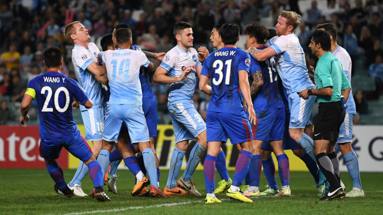 Frustrations boil over during Sydney FC's 0-0 draw with Shanghai Shenhua.