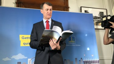 """""""Perfect 10"""": Brisbane lord mayor Graham Quirk delivers the 2018 Brisbane City Council budget."""