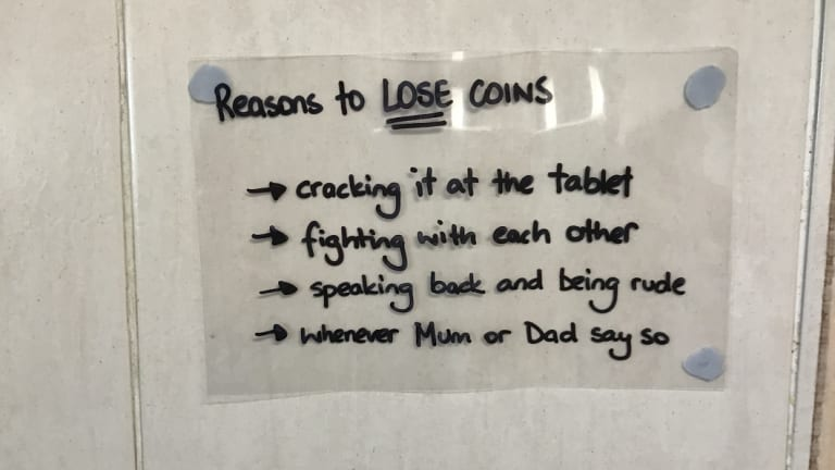 The scheme also includes reasons to lose coins.