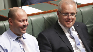 Treasurer Josh Frydenberg and Prime Minister Scott Morrison have a lot riding on a surplus next September.