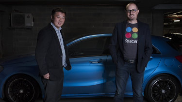 Spacer co-founders Roland Tam and Mike Rosenbaum help people capitalise on spare garage or attic space.