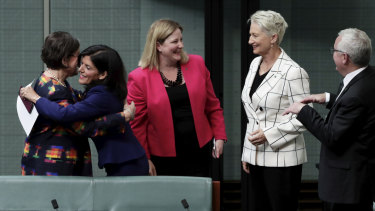 Ms Banks is welcomed by the crossbench.